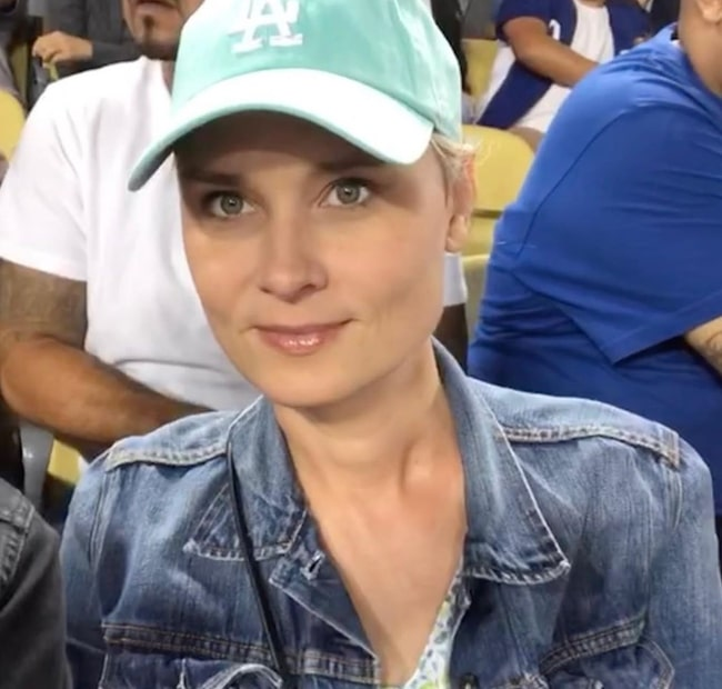 Kristina Klebe as seen at Dodger Stadium in July 2019