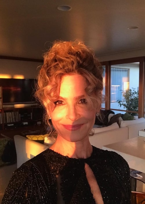 Kyra Sedgwick in an Instagram selfie from February 2018