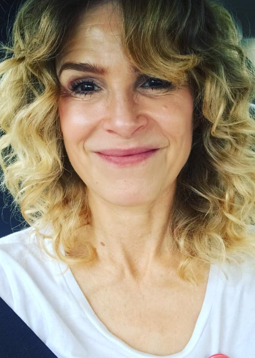 Kyra Sedgwick in an Instagram selfie from November 2018