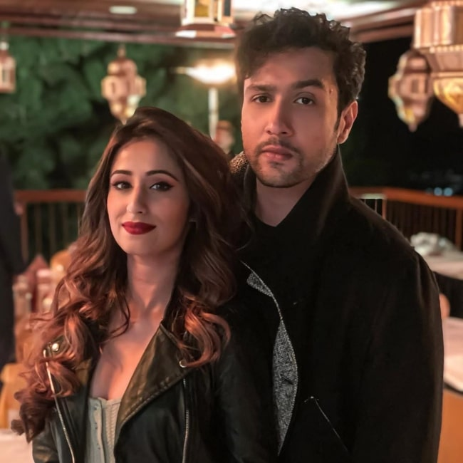 Maera Mishra smiling in a picture alongside Adhyayan Suman