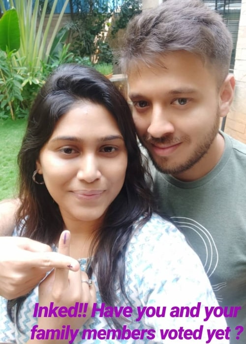 Manisha Yadav and her beau Varnit Jain as seen in a selfie that was taken in the past