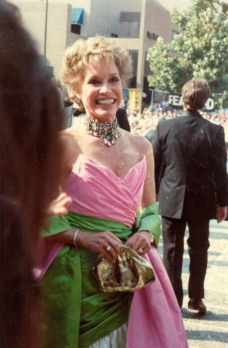 Mary Tyler Moore as seen on the red carpet at the 1988 Emmy Awards