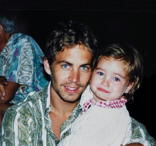 Meadow Rain Walker with her father Paul Walker