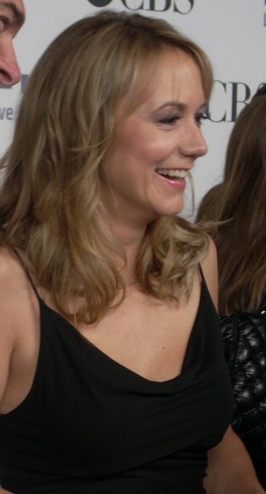 Megyn Price pictured at CBS Comedies Premiere Party on La Cienega, Los Angeles in September 2008