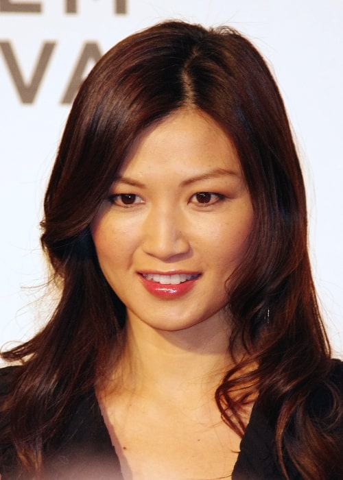 Michelle Krusiec at the 2012 Tribeca Film Festival premiere of Knife Fight