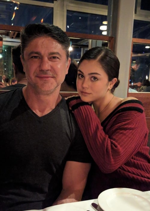 Mika Abdalla as seen in a picture that was taken at restaurant with her father in April 2020