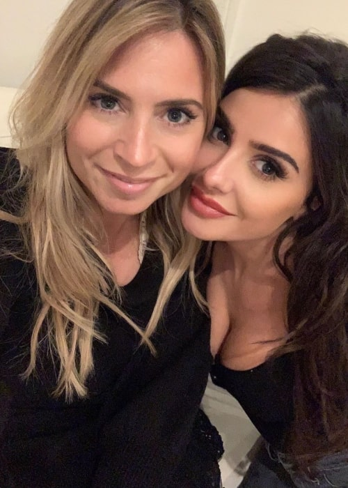 Mikaela Hoover as seen in a selfie that was taken with her close friend Mary V in the past