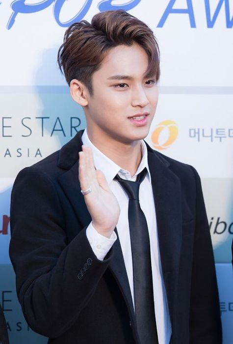 Mingyu as seen on the red carpet of the Gaon Chart K-pop Awards in 2016