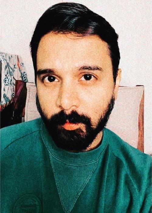 Namit Das as seen in a selfie that was taken in August 2020