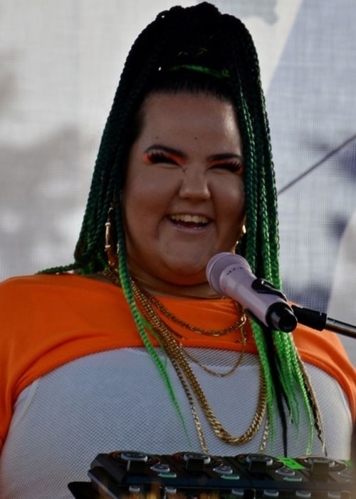 Netta Barzilai as seen in a picture that was taken during a performance at the Sofia Pride 2019