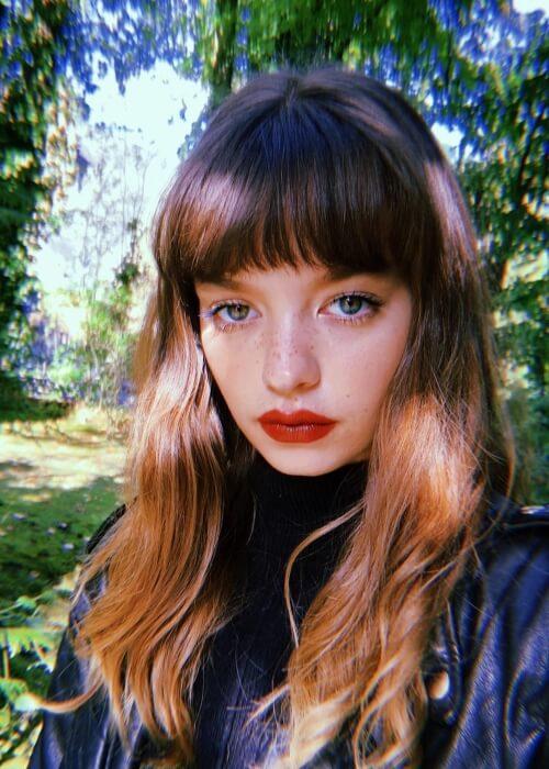 Olivia-Mai Barrett as seen in a selfie that was taken in October 2019