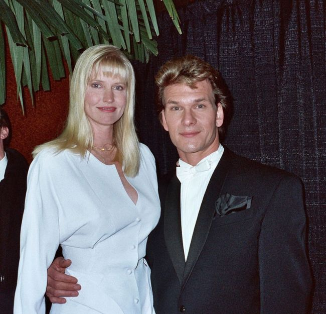 Patrick Swayze as seen with his wife Lisa Niemi in 1990