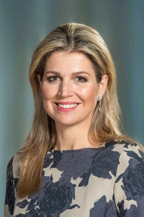 Queen Máxima of the Netherlands as seen in her official portrait photo in 2015