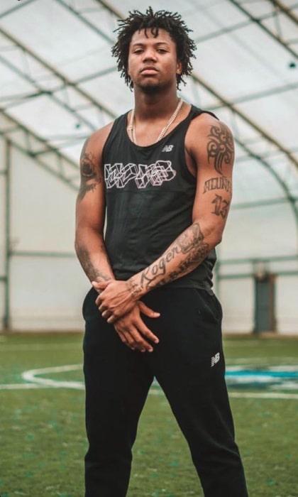 Ronald Acuña Jr. as seen in an Instagram Post in July 2019