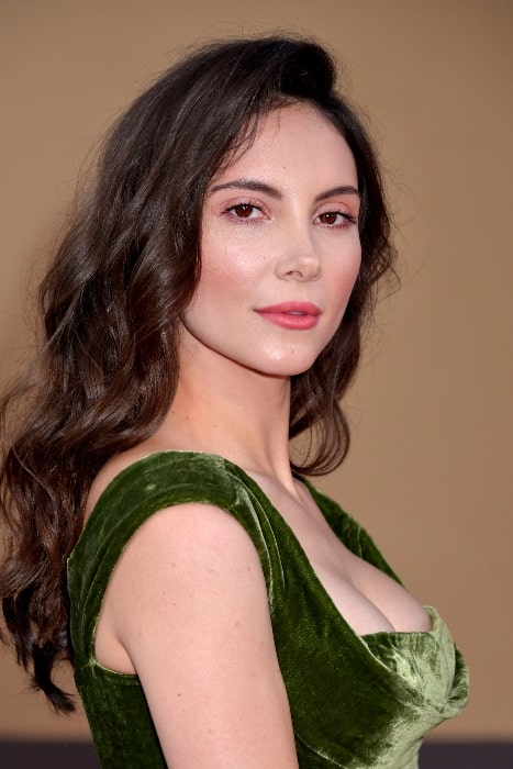 Samantha Robinson posing for the camera at the 'Once Upon A Time In Hollywood' premiere in Hollywood, California on July 22, 2019