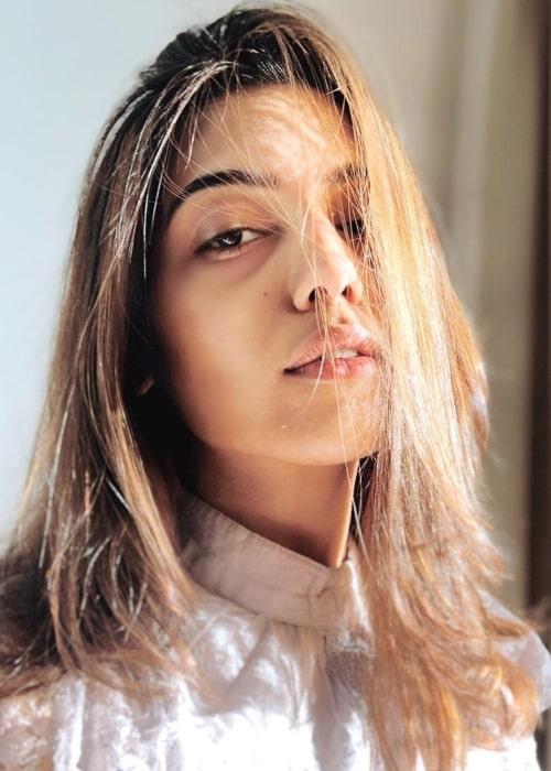 Samiksha Pednekar as seen in a selfie that was taken in March 2020