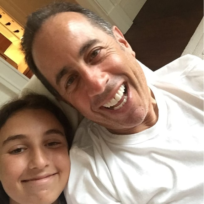 Sascha Seinfeld and her father Jerry in a selfie that was taken in July 2016
