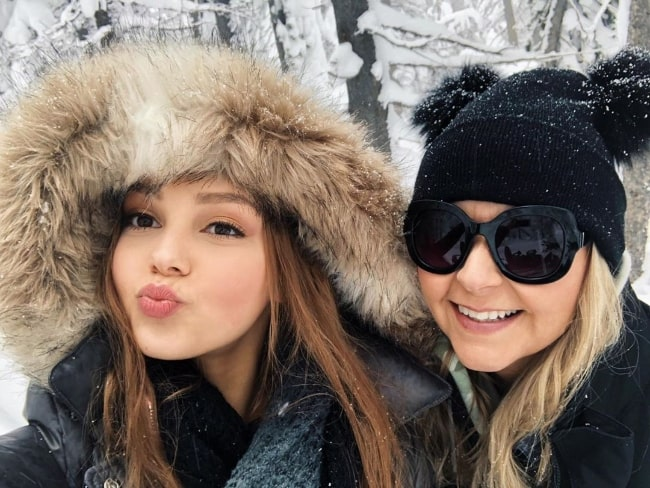 Savannah Lee May pouting for a selfie alongside her mother