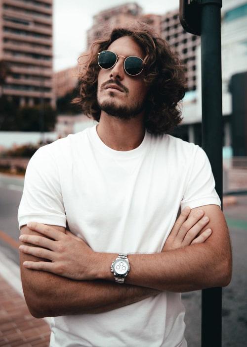 Stefanos Tsitsipas as seen in an Instagram Post in July 2020