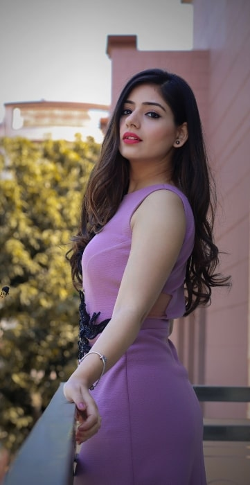 Tania as seen while posing at her photoshoot in March 2019