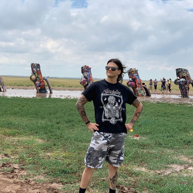 Travis Bacon as seen at Cadillac Ranch in Amarillo, Texas in July 2019