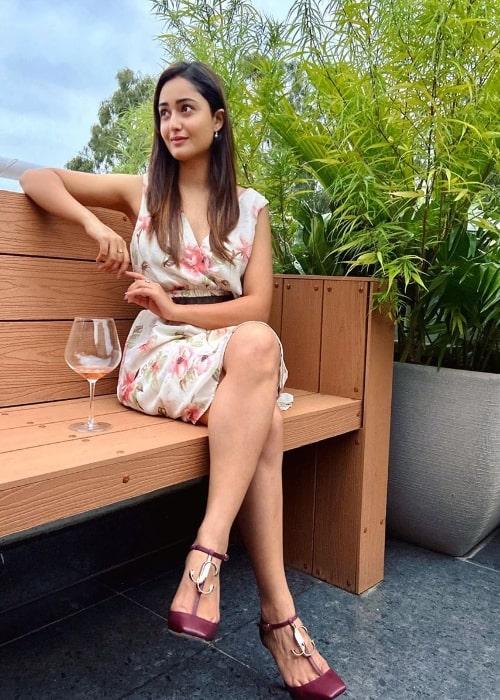 Tridha Choudhury as seen in an Instagram post in August 2020