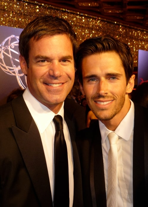 Tuc Watkins (Left) as seen while posing for a picture alongside Brandon Beemer at the 2010 Daytime Emmy Awards