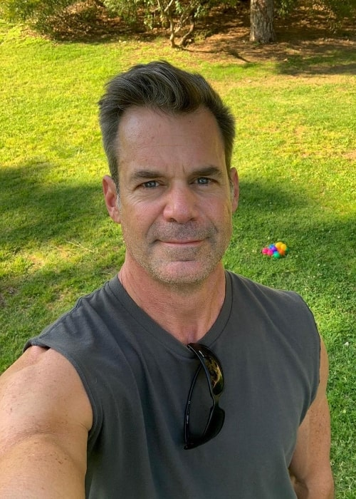 Tuc Watkins as seen while taking a selfie in March 2020