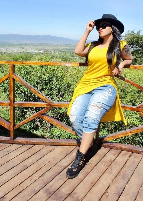 Vera Sidika enjoying her time at Maasai Mara National Reserve in July 2019