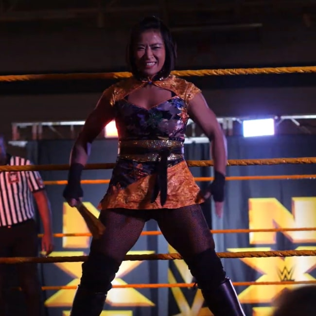 Xia Li entering the arena before her match with Deonna Purrazzo on November 6, 2019