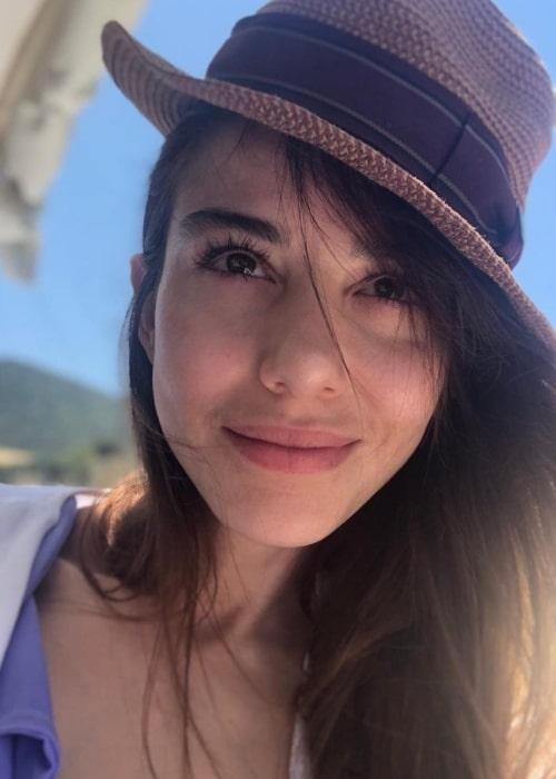 Özge Gürel as seen in a selfie that was taken in July 2020