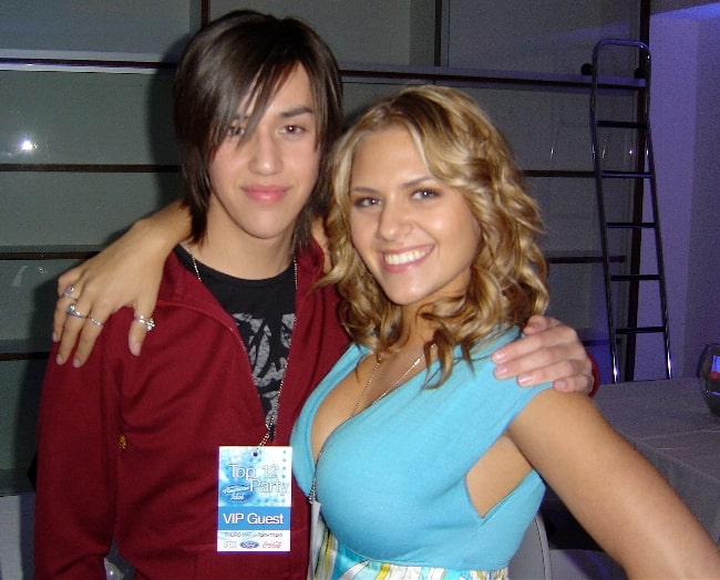 Adore Delano (Left) and Kady Malloy at the American Idol, Season 7, Top 12 after party in March 2008