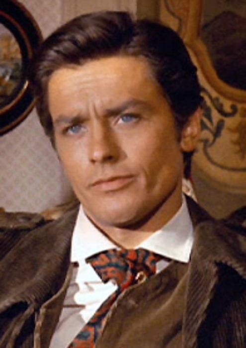 Alain Delon as seen in a scene from 'The Leopard' (1963)