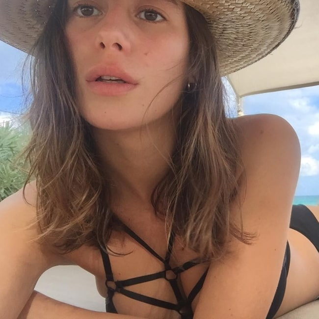 Alejandra Guilmant as seen in a selfie that was taken in Nômade Tulum in November 2016