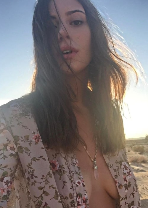 Alejandra Guilmant as seen in a selfie that was taken in Twentynine Palms, California in March 2017