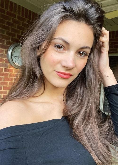 Alexia Raye as seen in a selfie that was taken in October 2020