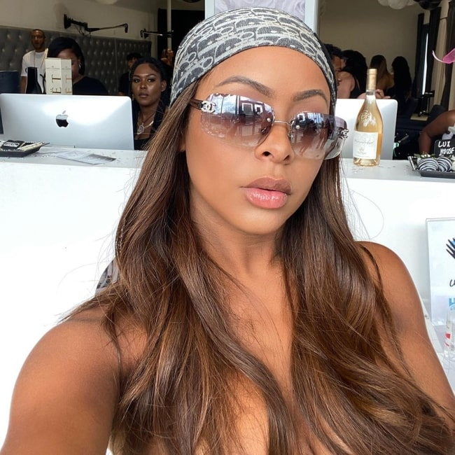 Alexis Skyy as seen in a selfie that was taken in July 2020