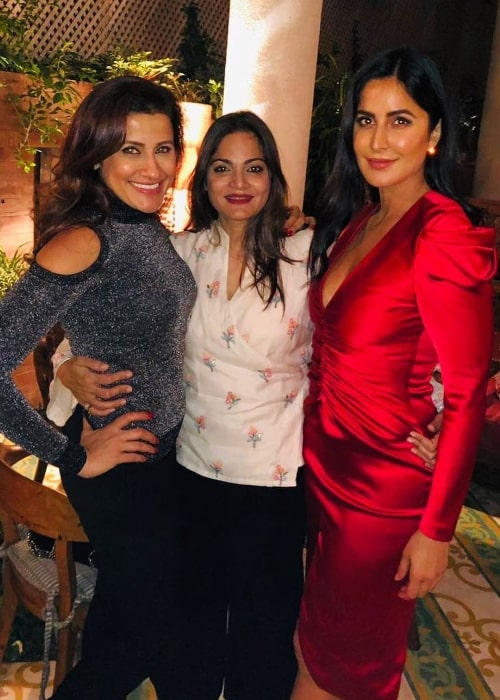 Alvira Khan Agnihotri (Center) smiling in a picture along with Yasmin Karachiwala (Left) and Katrina Kaif in January 2019