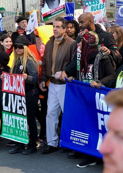Andrew Cuomo as seen at the March For Our Lives rally in 2018