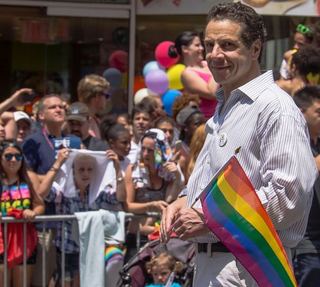 Andrew Cuomo as seen attending New York City's Gay Pride in 2013