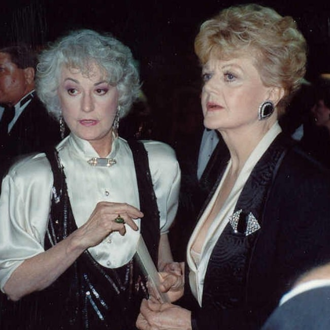 Angela Lansbury (Right) and her fellow 'Mame' original Broadway cast member Beatrice Arthur at the 41st Primetime Emmy Awards (1989)