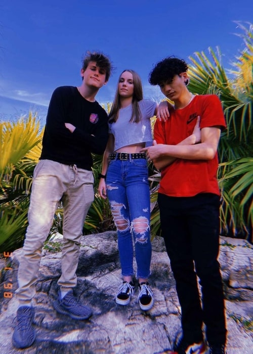 Anna Shumate as seen in a picture that was taken with her friends Chase and Ryan Wauters in March 2020