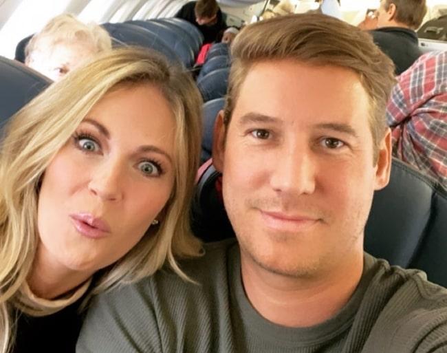 Austen Kroll as seen while taking a plane selfie along with Cameran Eubanks at Charleston International Airport in November 2019