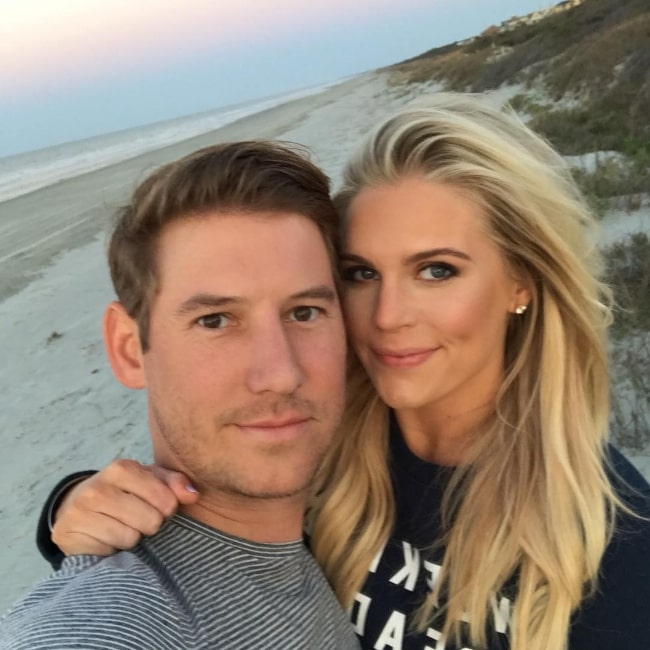 Austen Kroll clicking a selfie alongside Madison LeCroy during a staycation in Kiawah Island, South Carolina in March 2019