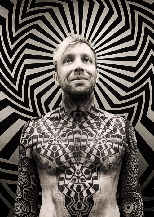 Ben McKee in March 2019 after getting a bunch of tattoos and feeling proud about the body art