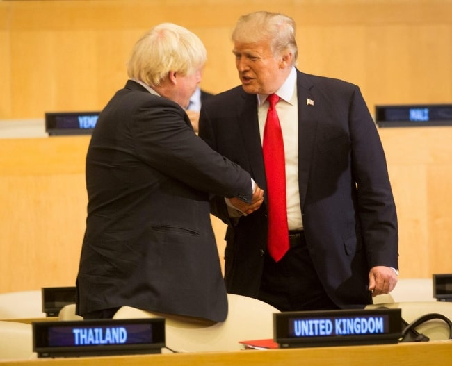 Boris Johnson (Left) with President Donald J. Trump at the United Nations General Assembly in October 2017