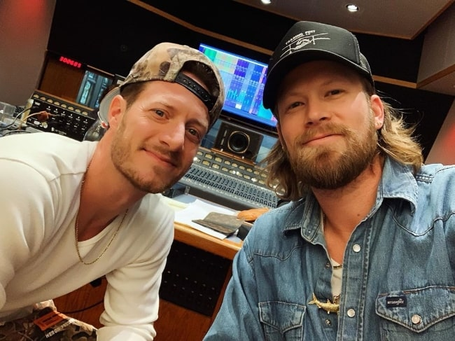 Brian Kelley (Right) along with Tyler Hubbard in November 2019