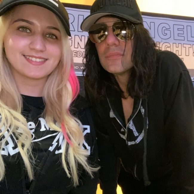 Chilly Jimenez as seen in a selfie that was taken with magician Criss Angel in January 2020