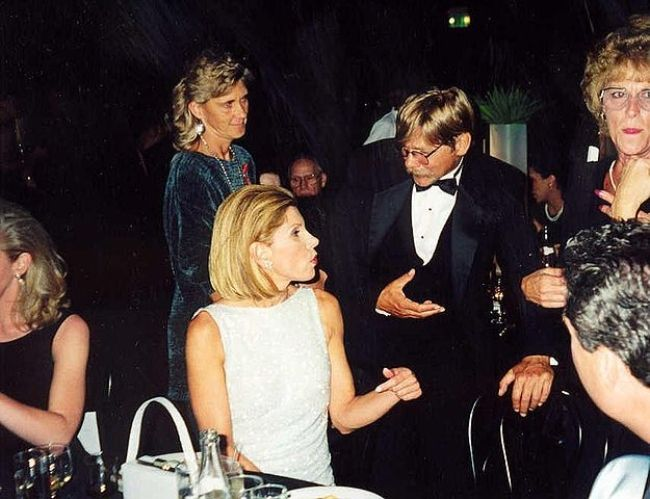 Christine and Matthew Cowles as seen at the Emmy Awards Governor's Ball in 1997