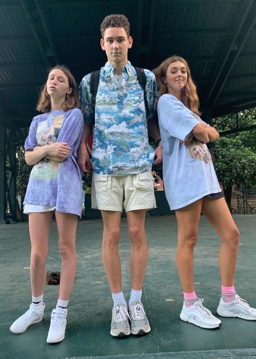 Claire Drake as seen in a picture with social media star Chase Rutherford and Haley Sharpe in July 2020